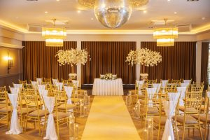 Redhurst wedding setup